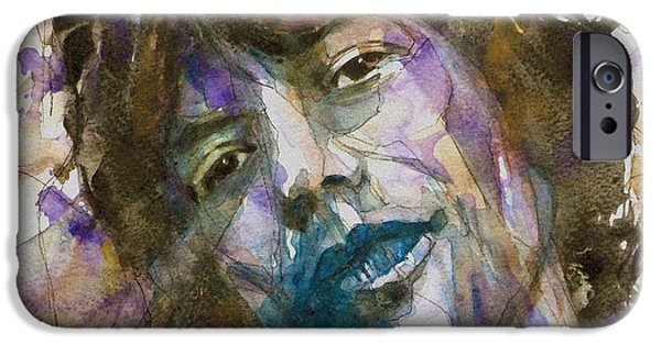 Celebrities Mixed Media iPhone Cases - Gimmie Shelter iPhone Case by Paul Lovering