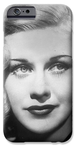 Red Carpet iPhone Cases - Ginger Rogers iPhone Case by Nomad Art And  Design
