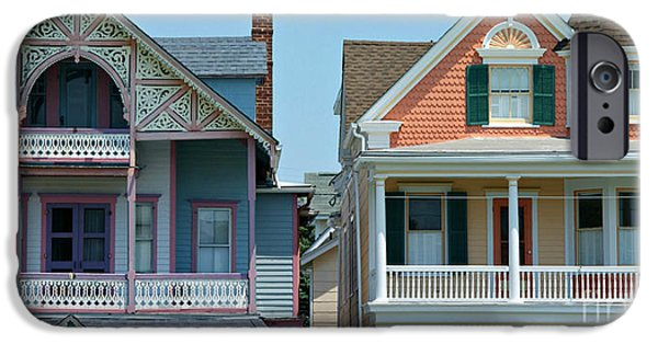 Panoramic Ocean iPhone Cases - Gingerbread Beach Homes Pano - Ocean Grove NJ iPhone Case by Anna Lisa Yoder