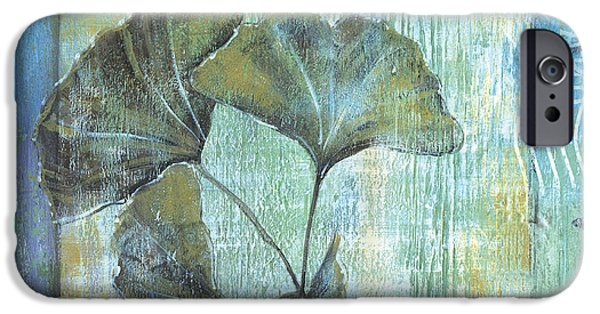 Plant iPhone Cases - Gingko Spa 2 iPhone Case by Debbie DeWitt