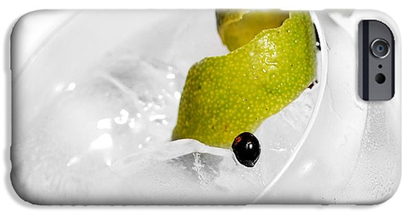 Lime iPhone Cases - Gintonic Detail iPhone Case by Gina Dsgn