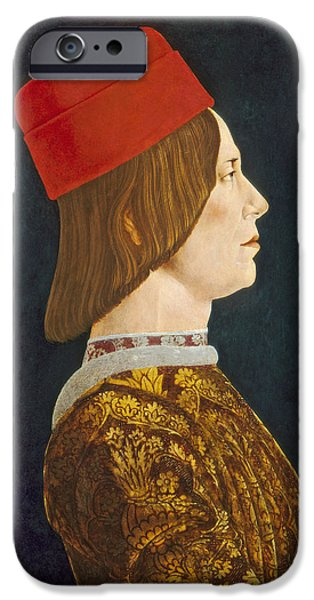 Profile iPhone Cases - Giovanni Ii Bentivoglio, C. 1474- 77 Tempera On Panel iPhone Case by Ercole de Roberti