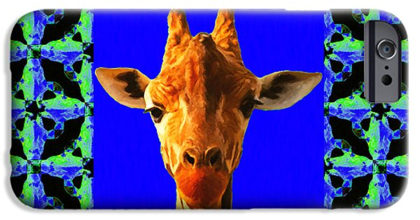 Giraffe Abstract iPhone Cases - Giraffe Abstract Window 20130205p100 iPhone Case by Wingsdomain Art and Photography