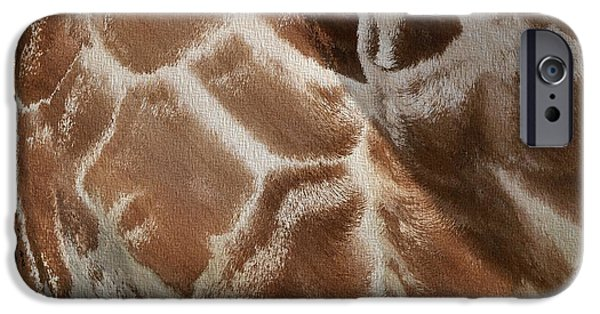 Giraffe Abstract iPhone Cases - Giraffe Patterns iPhone Case by Dan Sproul