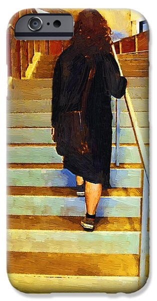 Figures iPhone Cases - Girl Ascending iPhone Case by RC DeWinter