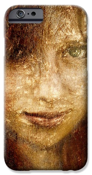 Youthful iPhone Cases - Girl In A Window iPhone Case by Jeff  Gettis