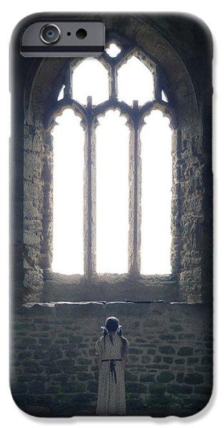 girl in chapel iPhone Case by Joana Kruse