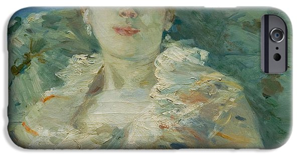 Berthe Paintings iPhone Cases - Girl on a Divan iPhone Case by Berthe Morisot