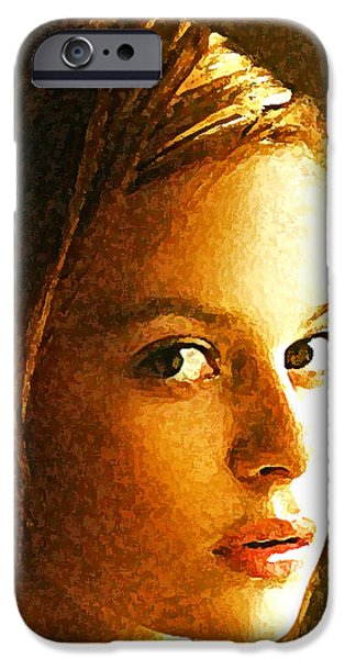 Abstract Expressionism iPhone Cases - Girl sans iPhone Case by Richard Thomas