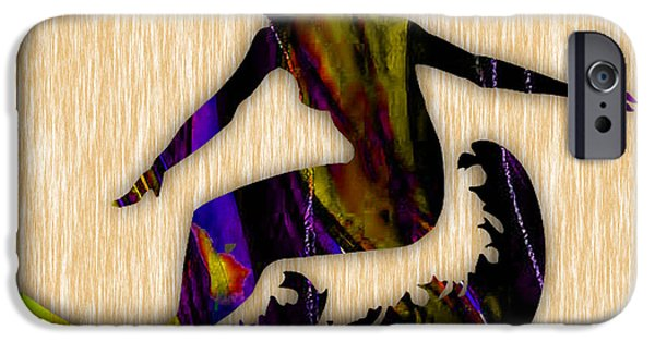 Surfing iPhone Cases - Girl Surfer Art iPhone Case by Marvin Blaine
