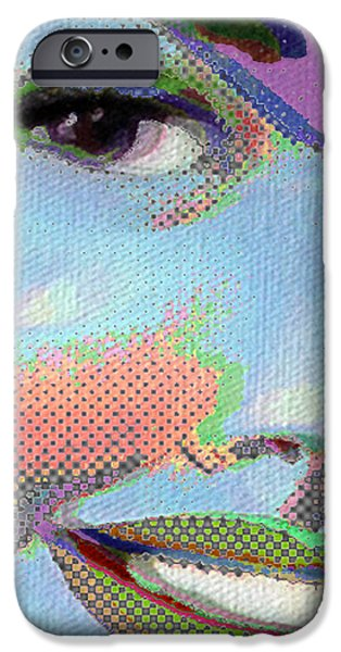 Smiling Mixed Media iPhone Cases - Girl iPhone Case by Tony Rubino