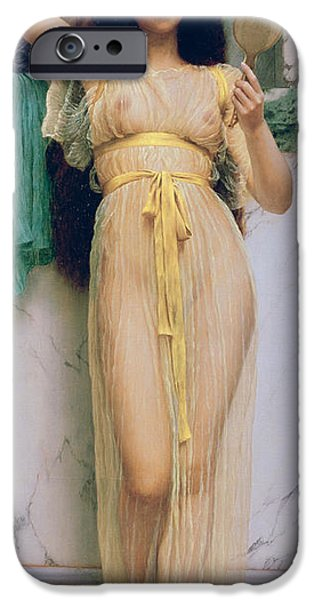 Nudity iPhone Cases - Girl with a Mirror iPhone Case by John William Godward