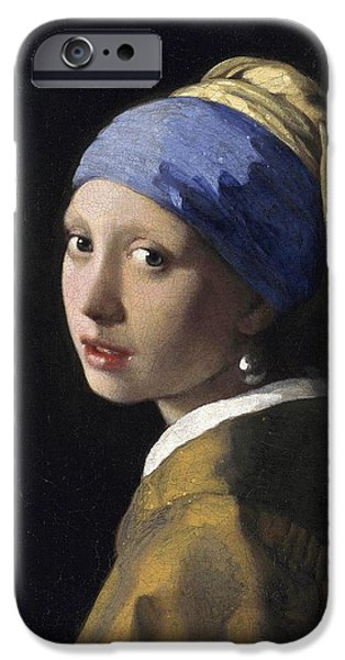 Girl with a Pearl Earring iPhone Case by Johannes Vermeer
