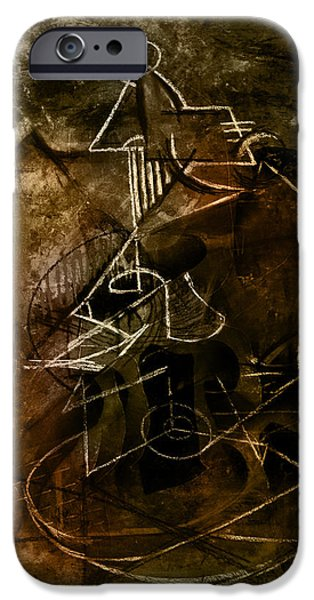 Analytic iPhone Cases - Girl with Guitar Study iPhone Case by Kim Gauge