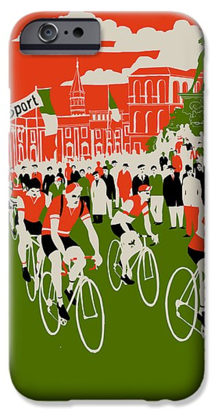 Printmaking Drawings iPhone Cases - Giro iPhone Case by Eliza Southwood