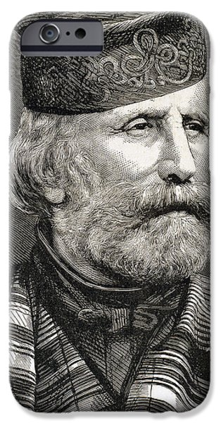 19th Century Photographs iPhone Cases - Giuseppe Garibaldi iPhone Case by Bridgeman Images