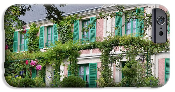 Painter Photographs iPhone Cases - Giverny Home of French Impressionist Painter Claude Monet iPhone Case by Carla Parris