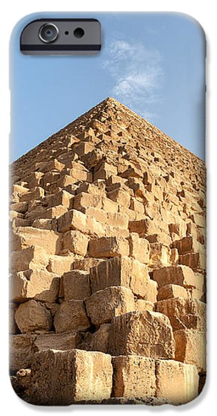 Giza pyramid detail iPhone Case by Jane Rix