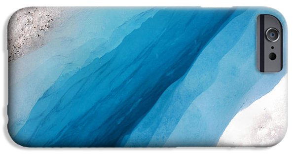Striae iPhone Cases - Glacial Rift iPhone Case by Kristin Elmquist