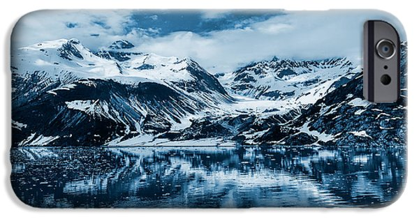 Snow iPhone Cases - Glacier Bay - Alaska - Landscape - Blue  iPhone Case by Sharon Norman