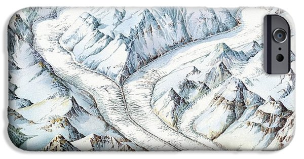 Mounds iPhone Cases - Glacier Geography, Artwork iPhone Case by Gary Hincks