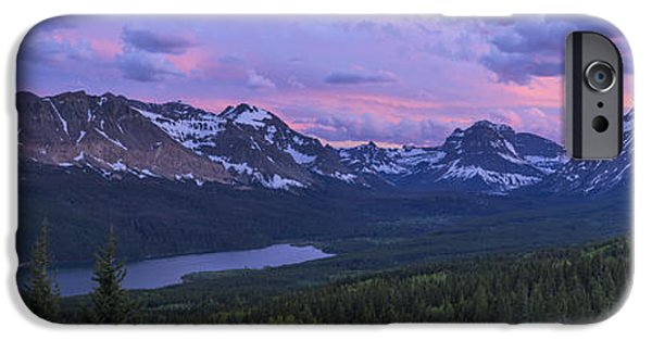 Vistas iPhone Cases - Glacier Glow iPhone Case by Chad Dutson