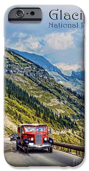 Landscape Poster Photographs iPhone Cases - Glacier National Park iPhone Case by Jill Battaglia