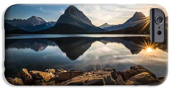 Mountain iPhone Cases - Glacier National Park iPhone Case by Larry Marshall