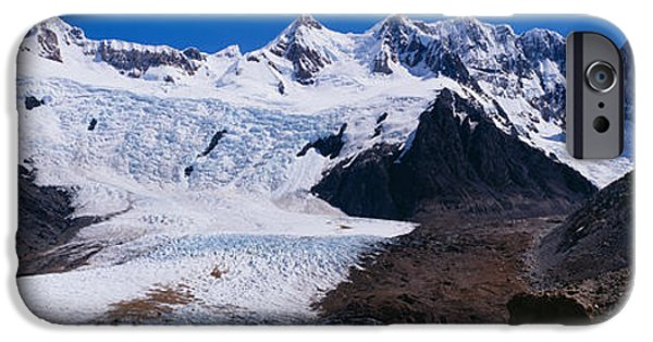 Mountain iPhone Cases - Glacier On A Mountain Range, Argentine iPhone Case by Panoramic Images