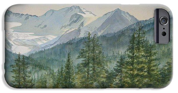 Glacier iPhone Cases - Glacier Valley Morning Sky iPhone Case by Sharon Freeman