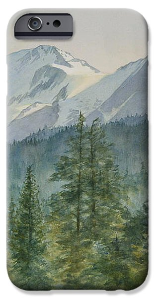 Glacier Valley Morning Sky iPhone Case by Sharon Freeman
