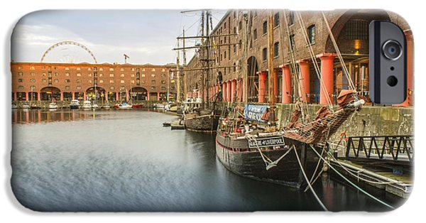 Tall Ship iPhone Cases - Glaciere at the Albert Dock iPhone Case by Paul Madden