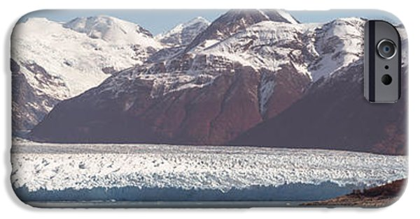 Mountain iPhone Cases - Glaciers In A Lake, Moreno Glacier iPhone Case by Panoramic Images
