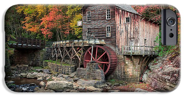 Pines iPhone Cases - Glade Creek Grist Mill 3  iPhone Case by Emmanuel Panagiotakis