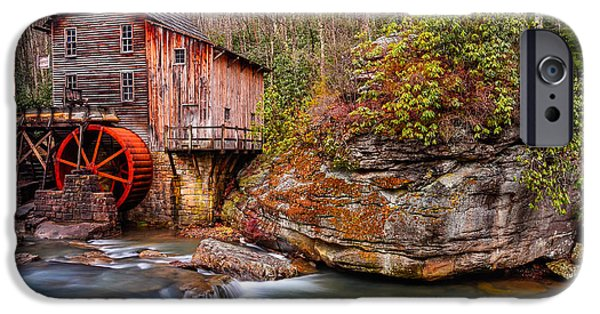 Grist Mill iPhone Cases - Glade Creek Grist Mill iPhone Case by Anthony Heflin