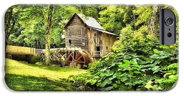 Grist Mill iPhone Cases - Glade Creek Grist Mill iPhone Case by Karen Dempsey