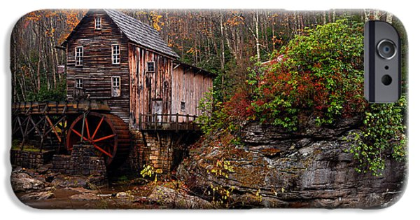 Grist Mill iPhone Cases - Glade Creek Grist Mill iPhone Case by Larry Ricker