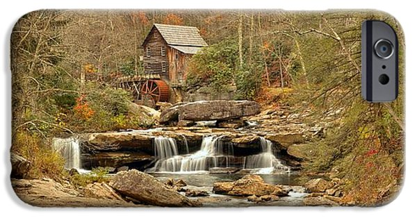 Grist Mill iPhone Cases - Glade Creek Grist Mill Panorama iPhone Case by Adam Jewell