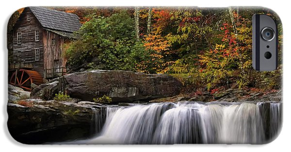 Grist Mill iPhone Cases - Glade Creek grist mill - Photo iPhone Case by Chris Flees
