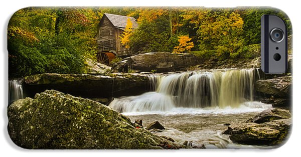 Grist Mill iPhone Cases - Glade Creek Grist Mill iPhone Case by Shane Holsclaw