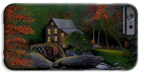 Grist Mill iPhone Cases - Glade Creek Grist Mill iPhone Case by Stefon Marc Brown
