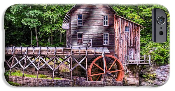 Grist Mill iPhone Cases - Glade Creek Grist Mill iPhone Case by Steve Harrington