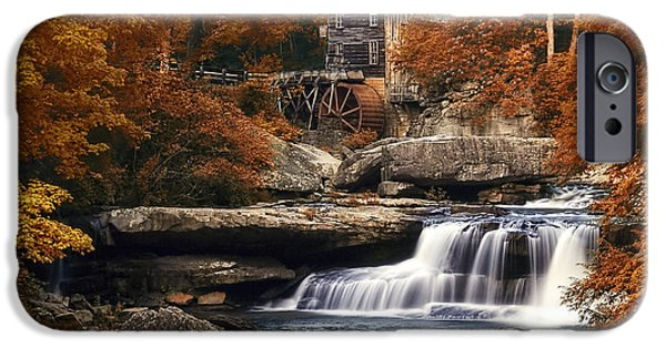 Fall Foliage iPhone Cases - Glade Creek Mill in Autumn iPhone Case by Tom Mc Nemar