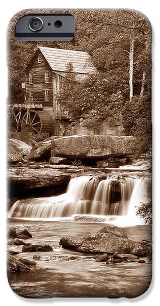 Glade Creek Mill in Sepia iPhone Case by Tom Mc Nemar