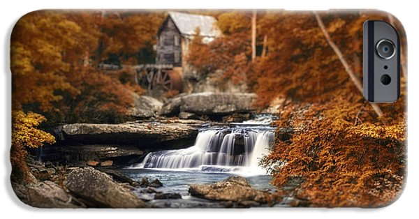 Grist Mill iPhone Cases - Glade Creek Mill Selective Focus iPhone Case by Tom Mc Nemar