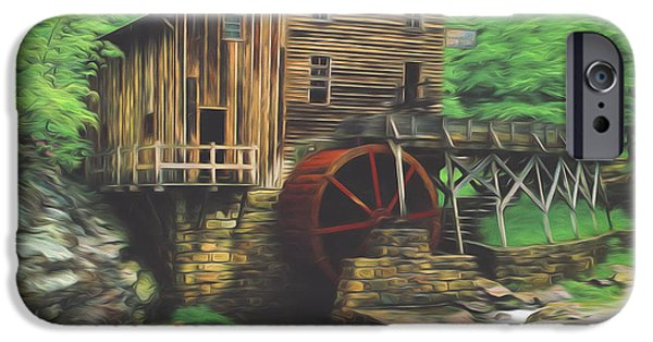 Grist Mill iPhone Cases - Glade Creek Mill iPhone Case by Steve Bailey