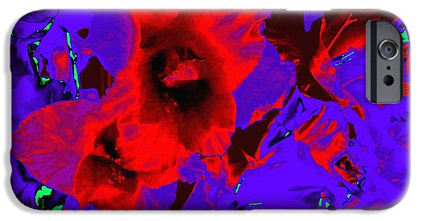 Gladiolas iPhone Cases - Gladiola Abstract iPhone Case by Will Borden