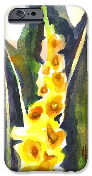 Gladiolas iPhone Cases - Gladiolas in Wintertime iPhone Case by Kip DeVore