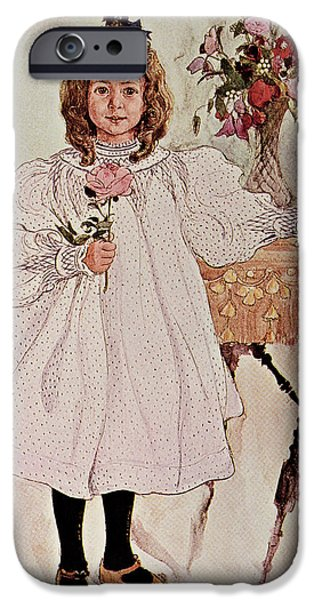 Cute. Sweet iPhone Cases - Gladys iPhone Case by Carl Larsson