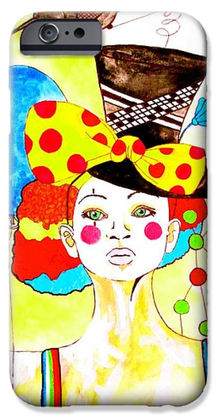Amy Sorrell iPhone Cases - Glam Clown iPhone Case by Amy Sorrell